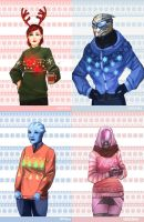 ME - Christmas Sweaters by Weissidian