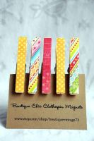 Boutique Clothespin Magnets by BoutiqueVintage72