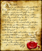 A Letter from Erik by VampiricYoshi