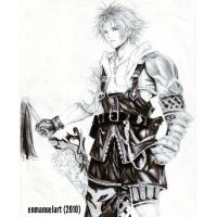 Tidus Final Fantasy X by Enmanuelart20