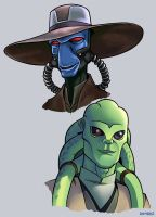 Cad Bane and Kit Fisto by D-MAC