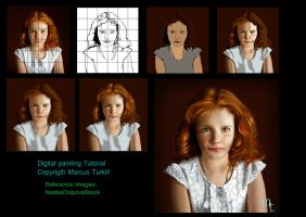Digital Painting Tutorial: child portrait by turkill