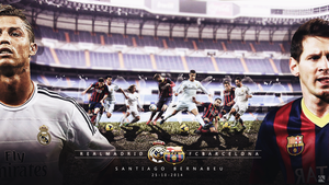 REALMADRID VS FCBARCELONA WALLPAPER by Achrafgfx