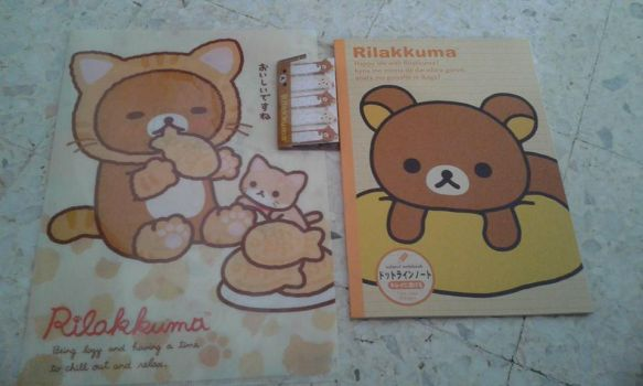 My gifts from my Japanese friend. Rilakkuma~~ by prisc8328