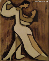 dancers oil painting by TOMMERVIK