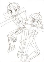 Gemini Spark Lineart by bright-as-a-button