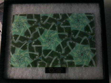 Framed Equilateral Tessellation by HelloKittyTsi