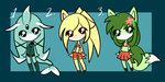 Summer adoptables .:CLOSED:. by stacykaril