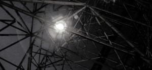 Glowing Spider In A Web Of Steel by RobertRobledo