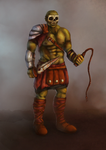 Half-orc the Gladiator Concept Art by miss-alchemist