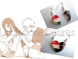 APH - Prussia x Hungary - Half Heart Earrings by Undisclose--Desires