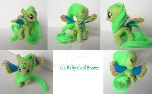 My little Pony G4 - G1 Baby Filly Cool Breeze by BerryMouse