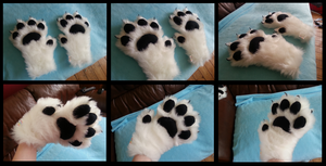 White Feral Handpaws by CuriousCreatures