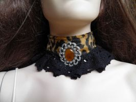 Steampunk-Victorian choker PCCH6 by JanuaryGuest