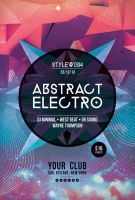 Abstract Electro Flyer by styleWish