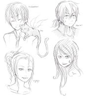Reincarnation Chara Sketches by Kime-baka-onee-chan