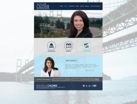 Michelle Caldier Web Design by fireproofgfx