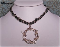 Black barded necklace by Gloomyswirl
