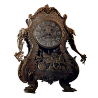 Beauty And The Beast| Cogsworth png by mintmovi3