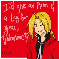 Edward Elric Valentines Card by MESS-Anime-Artist