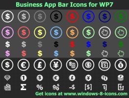 Business App Bar Icons for WP7 by Ikont