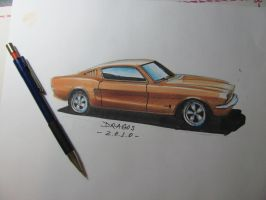 Mustang Sketch by jimmynerd