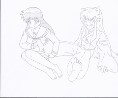 kagome tickles inuyasha by tgohan