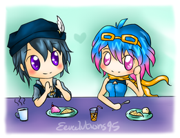 French Cafe, anyone? by Eeveelutions95