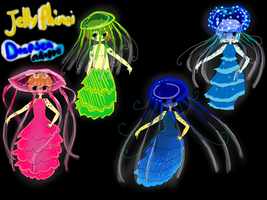 Jellyphinei adoptables 2 -deep sea- (Closed) by owodoomkitty