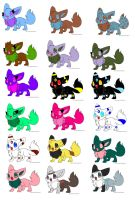 FREE Eevee Adoptables CLOSED by EarrthMoonWarrior239