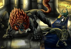 Dark Beast Fight by Irete