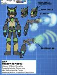 Mighty No 9 OC Reference: Zap by AtomicPhoton