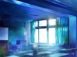 My blue room by Closz