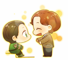 [CROSS OVER] Loki and Charles by twosugars16