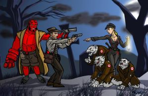 Indy and Hellboy by Odd-Voodoo