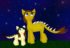 Contest entry: Rockette and her dad by WoefulWriters