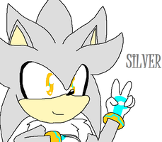 Silver the Hedgehog by PinkbloodsDominate