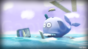 Whack the whale and the turtle without name by gapizabala