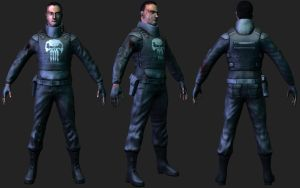 The punisher Warzone Lowpoly by spybg