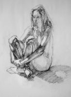 sitting figure study by herbsfishin