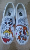 Calvin and Hobbes Custom Shoes 2 by Kyg0n