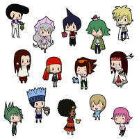 Shaman King Chibis by L-mon