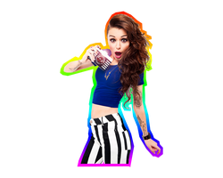 Cher Lloyd Rainbow Outline by amazing25