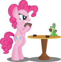 Pinkie and Gummy (Commission) by Jakage