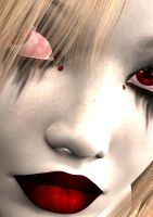 Vampire Girl - Close up by DarkFantasy69