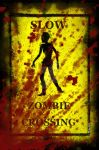 Bloody zombie sign by mc-87