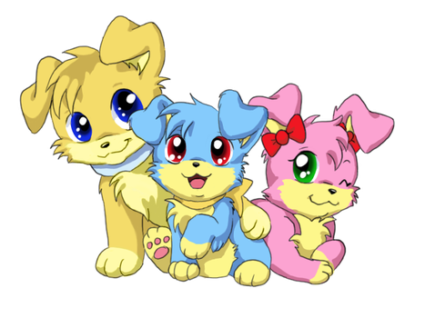 Inuko puppies by PixelRaccoon