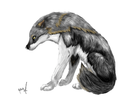Sam's Cartoon Wolf by Self-Eff4cing