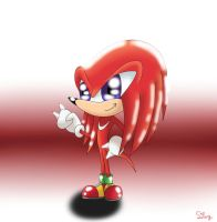 Chibi Knuckles by SweetSilvy