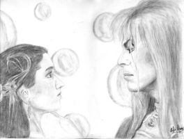 Labyrinth - Sarah and Jareth by aylap